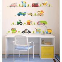 Samolepicí dekorace Stavební stroje, 105 x 95 cm