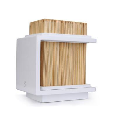 Bambusový stojan na nože Fakir 17 x 20 cm, bílý