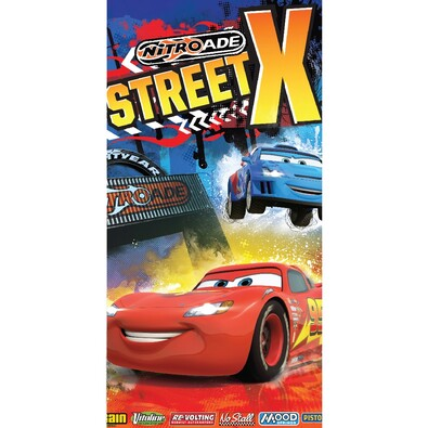 Osuška Cars Street X, 70 x 140 cm