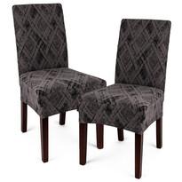 Husă multielastică 4Home Comfort Plus pentru scaun, gri, 40 - 50 cm, set 2 buc.