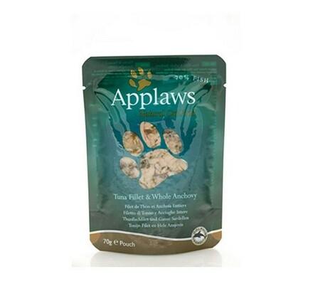 Sada 3 kusů Applaws kapsičky pro kočky tuňák a cel