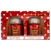 Sada vonných sviečok Spiced Apple and Cranberry & Caramel, 2 ks