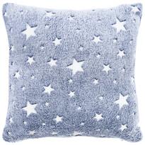 4Home Stars világító kék párnahuzat, 40 x 40 cm