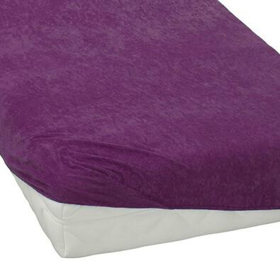 BedTex froté prostěradlo fialová, 180 x 200 cm