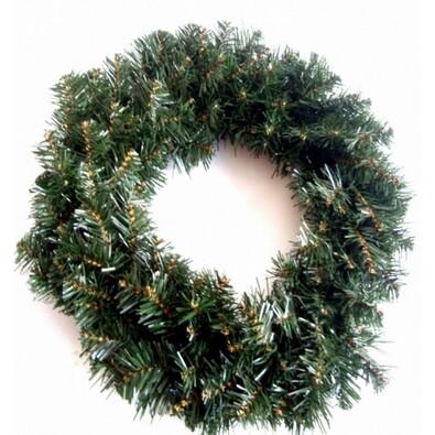 Dekorativní vánoční věnec chvojový, pr. 50 cm, zelená