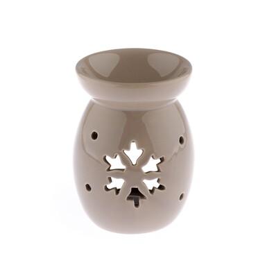 Keramická aromalampa Vločka, hnedá