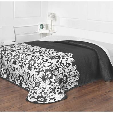 Přehoz na postel Versaille černobílá, 240 x 260 cm