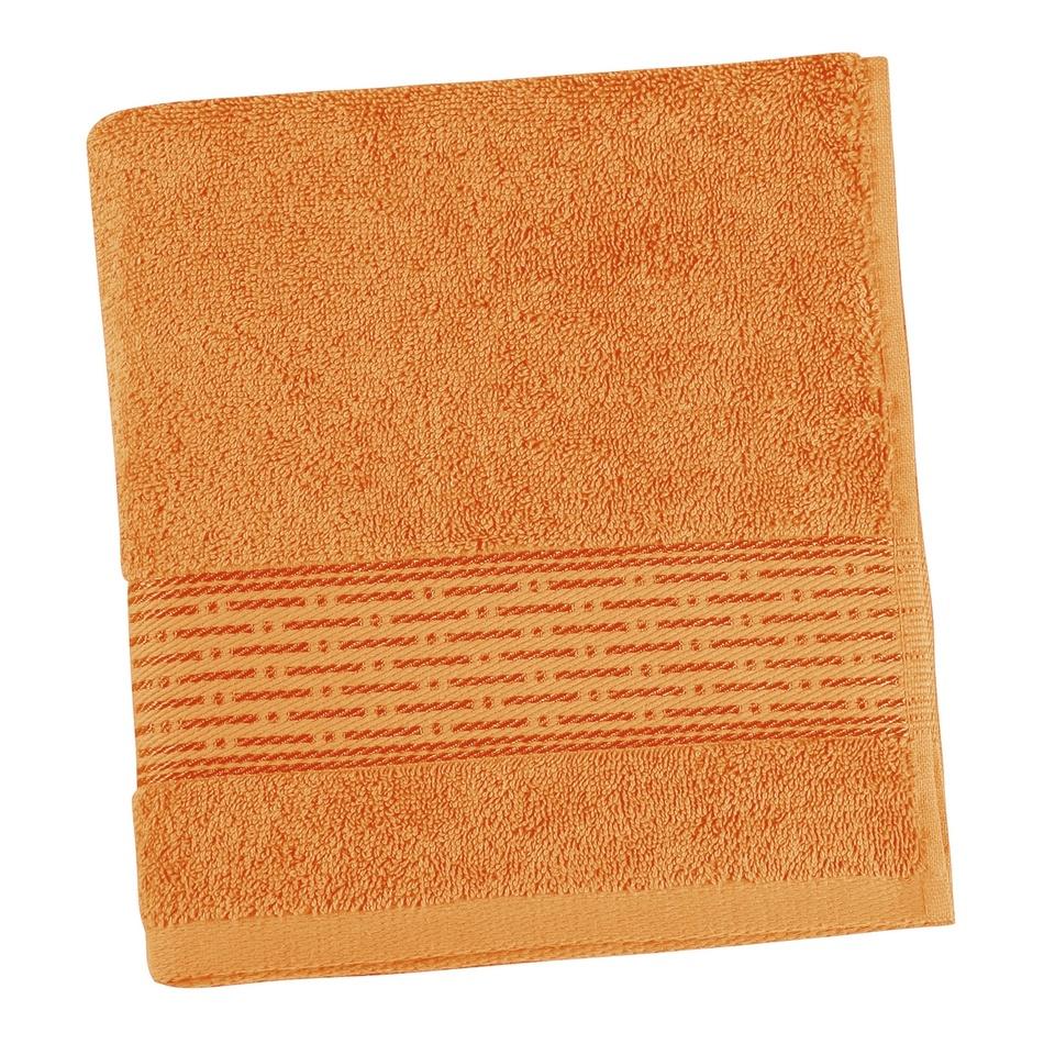 Bellatex froté ručník Proužek oranžová, 50 x 100 cm