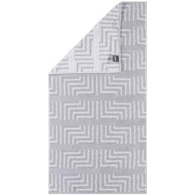 Cawö Frottier ručník Decor bílá, 50 x 100 cm