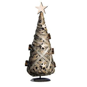 Proutěný vánoční stromeček hnědá