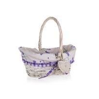 Coș împletit Home Decor Lavender, cu mâner, 26 x 17 x 12 cm