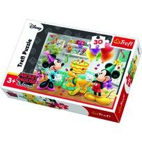 """Puzzle Trefl """"Przyjęcie uMyszki Miki"""", 30el."""