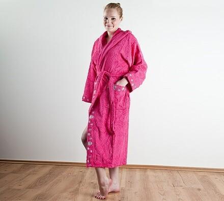 Dámský župan, růžový, L / XL