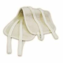 Obličkový obojstranný pás z ovčej vlny, béžová