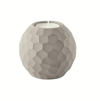 ASA Selection svícen Carve 7,6 cm světle šedá
