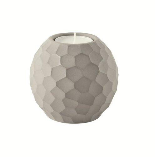 Asa selection svietnik Carve 7,6 cm světle šedá,