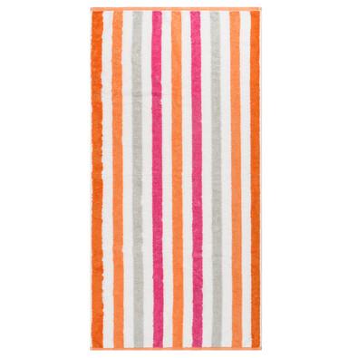 Cawo Frottier osuška Stripe pink, 70 x 140 cm