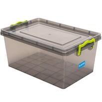 Cutie de depozitare din plastic, 15,5 l,gri