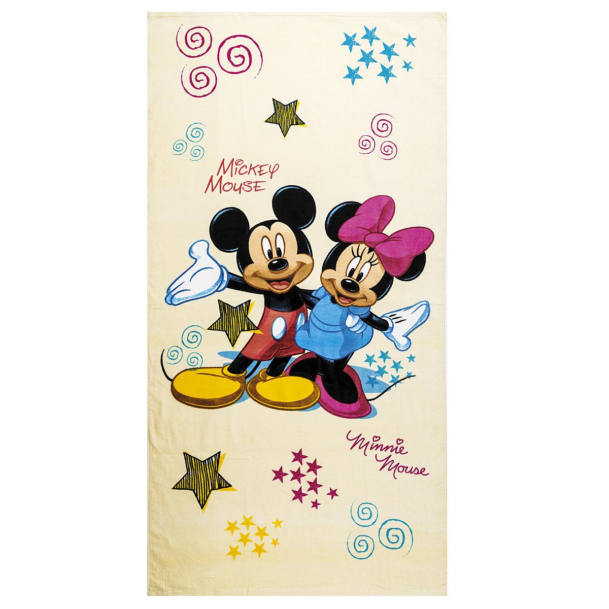 Dětská osuška Mickey a Minnie, 75 x 150 cm