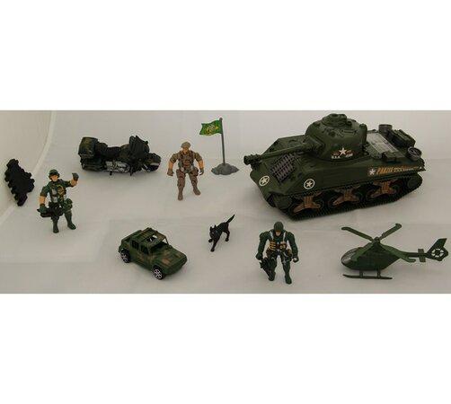 Vojenský set, zelená