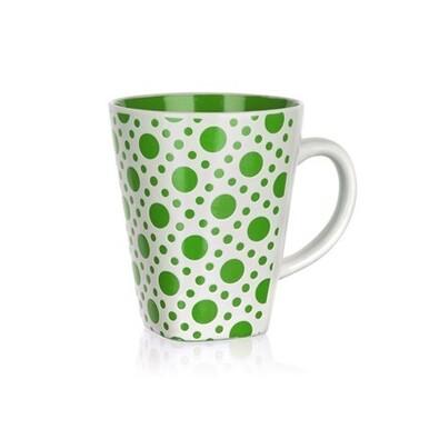 BANQUET Square hrnek zelený s puntíky 300 ml 2 ks