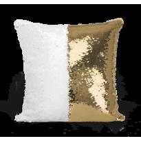 Domarex Poszewka na poduszkę z cekinami Flippy złoty, 40 x 40 cm