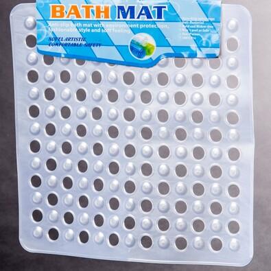 Protiskluzová podložka do sprchy Medusa bílá, 50 x 50 cm
