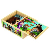 Bino kockajáték, Mása és a medve, 12 db-os