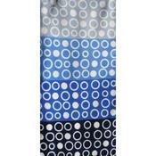 Povlečení Mikroplyš Geometrie modrošedá, 140 x 220