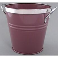 Osłonka blaszana na doniczkę fioletowa, śr. 12 cm