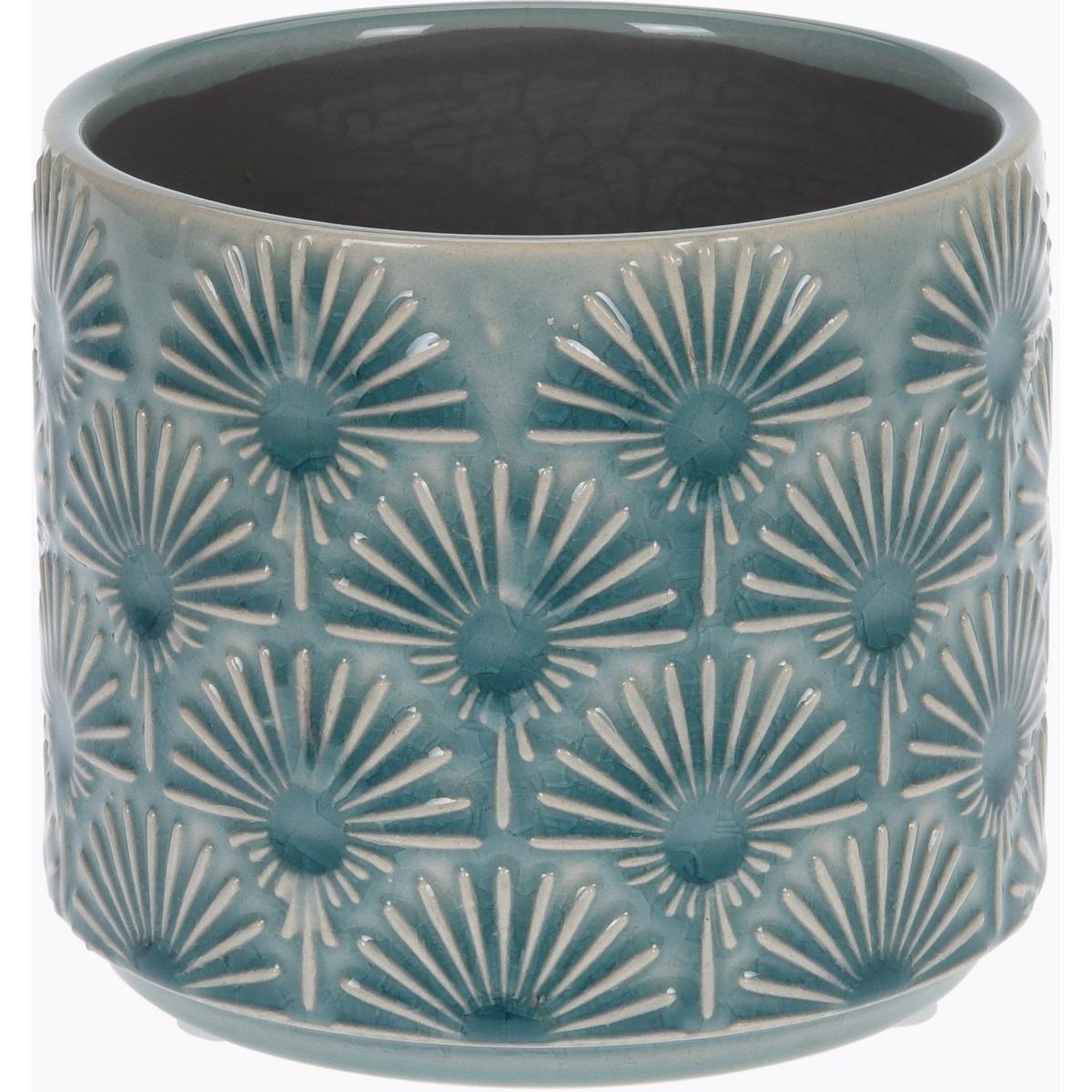 Keramický obal na květináč Campello modrá, pr. 10 cm