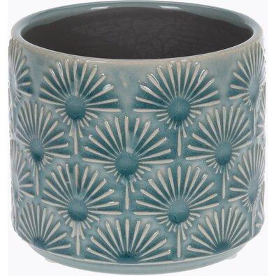Keramický obal na kvetináč Campello modrá, pr. 10 cm