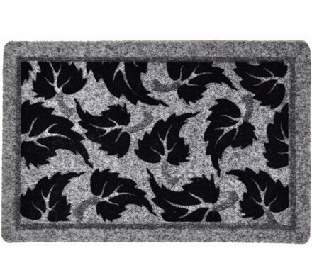 Vnitřní rohožka Listí, 40 x 60 cm, šedá, 40 x 60 cm
