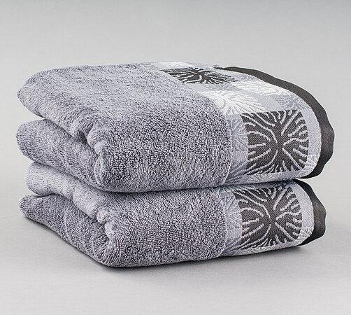 Ručník Ethnic šedý, 50 x 90 cm, sada 2 ks