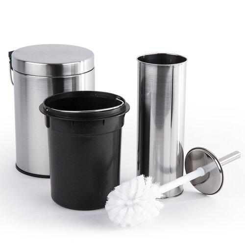 2dílná WC sada Metal, stříbrná