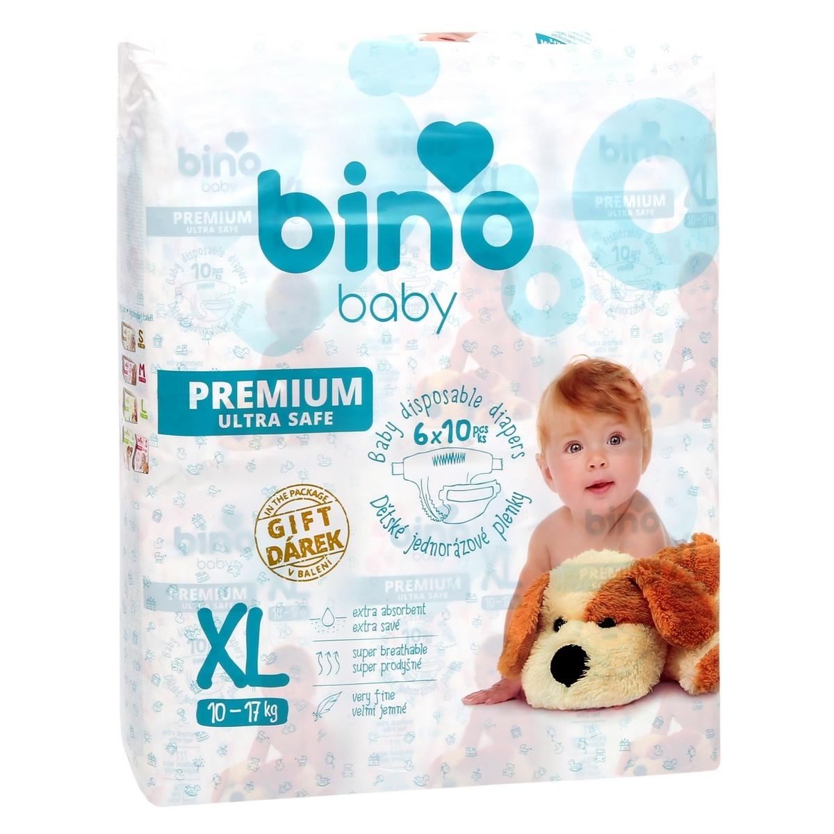 Bino baby premium XL 10-17 kg 6x10 ks