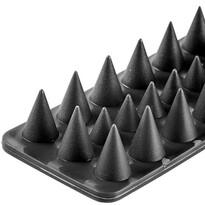 Plastikowe kolce przeciw ptakom czarny, zestaw 4 szt