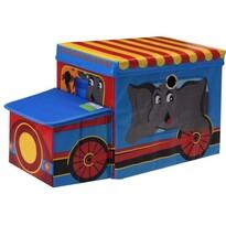 Dziecięcy pojemnik do przechowywania Circus bus niebieski, 55 x 26 x 31 cm