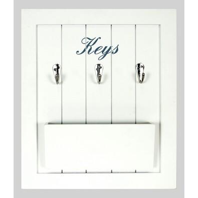 Tabule na klíče a dopisy bílá
