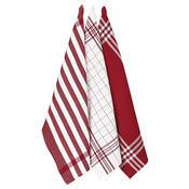 Kuchyňská utěrka Diane červená, 45 x 70 cm, sada 3 ks