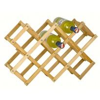 Fa palacktartó állvány 10 palackra