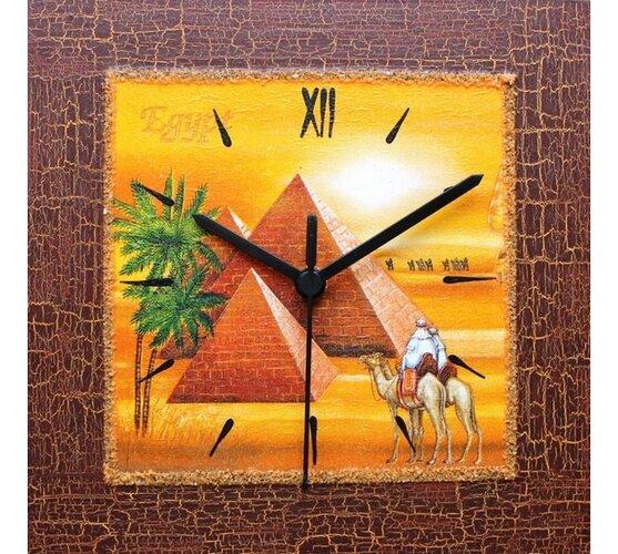 Dekoratívne nástenné hodiny Egypt