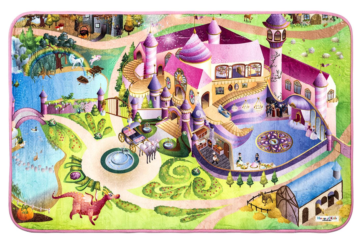 Vopi Dětský koberec Ultra Soft Zámek, 70 x 100 cm, 70 x 100 cm