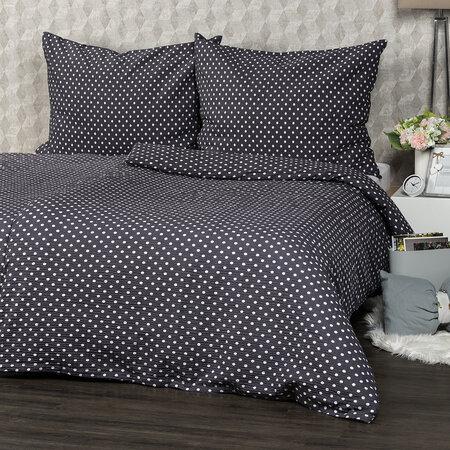 Lenjerie de pat 4Home Bulină gri, din crep, 140 x 200 cm, 70 x 90 cm