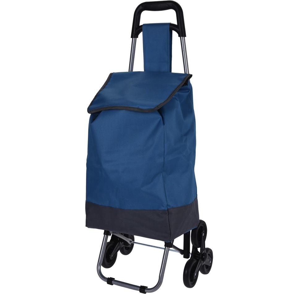 Nákupná taška na kolieskach Mindelo, modrá