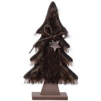 Vánoční dekorace Hairy tree tmavě hnědá, 28 cm