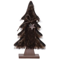 Vianočná dekorácia Hairy tree tmavohnedá, 28 cm