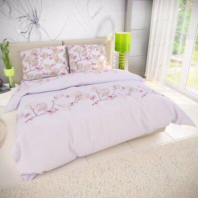 Kvalitex Bavlnené obliečky Mary ružová, 140 x 200 cm, 70 x 90 cm