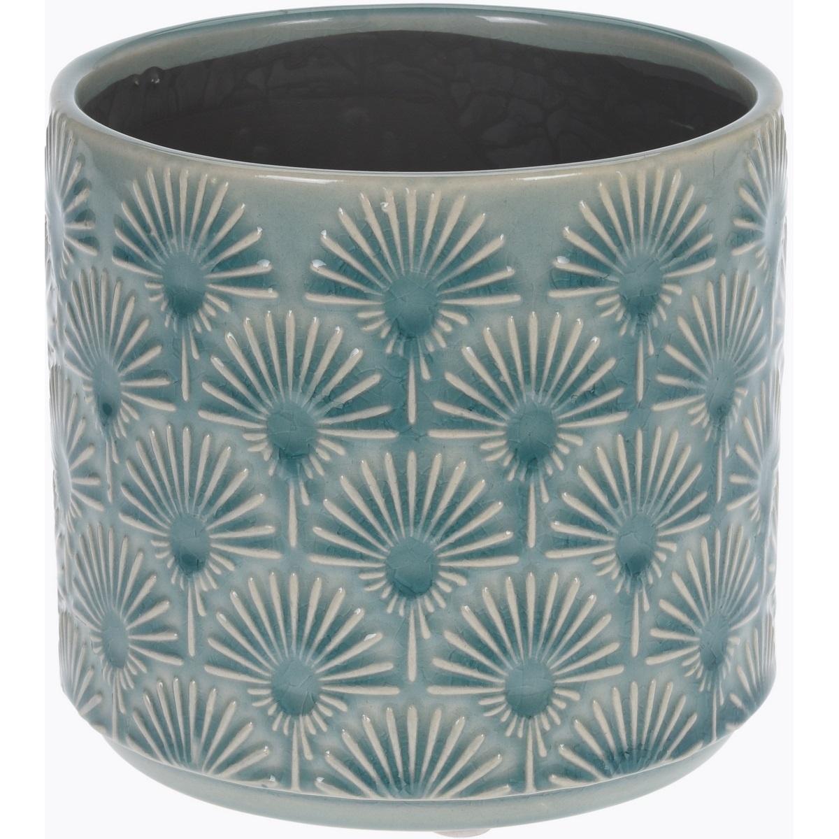 Keramický obal na květináč Campello modrá, pr. 13 cm