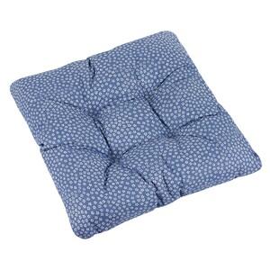 Sedák Adéla Kytička bílá na modré, 40 x 40 cm